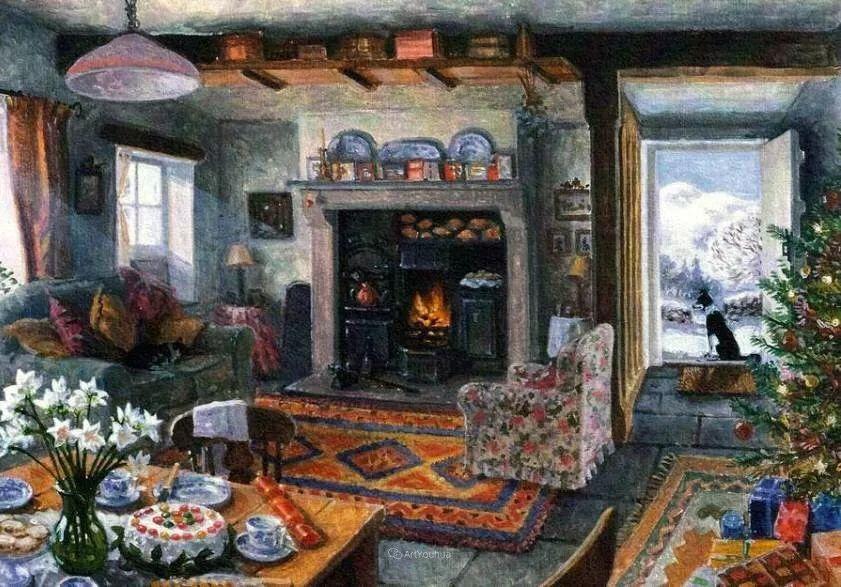 温馨的家,英国画家Stephen John Darbishire插图7