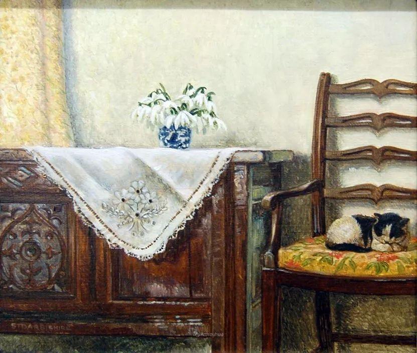 温馨的家,英国画家Stephen John Darbishire插图8