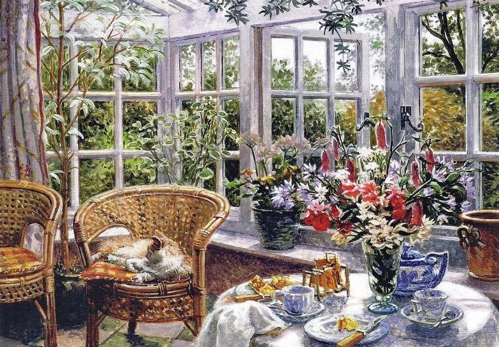 温馨的家,英国画家Stephen John Darbishire插图9