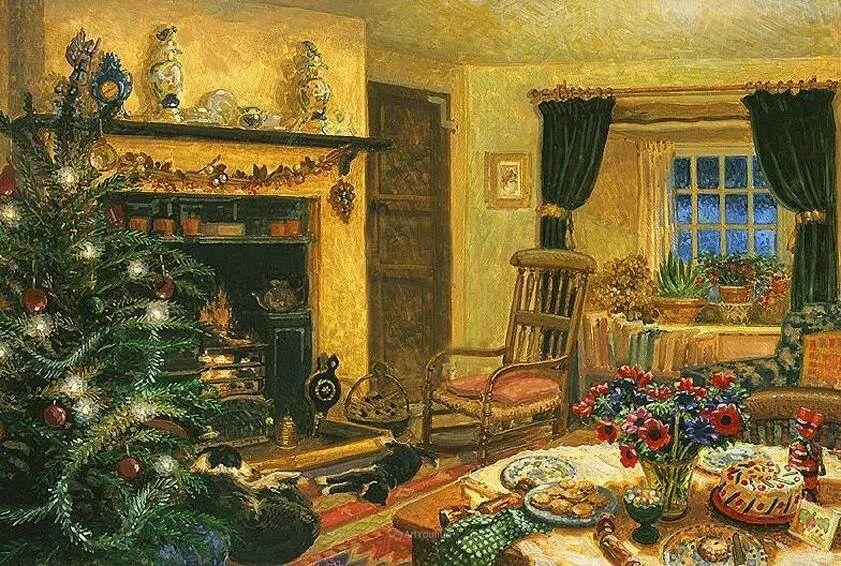 温馨的家,英国画家Stephen John Darbishire插图10