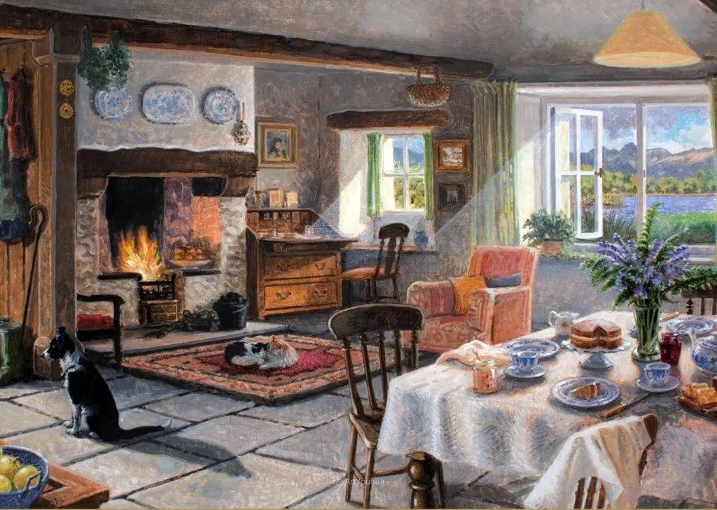 温馨的家,英国画家Stephen John Darbishire插图11