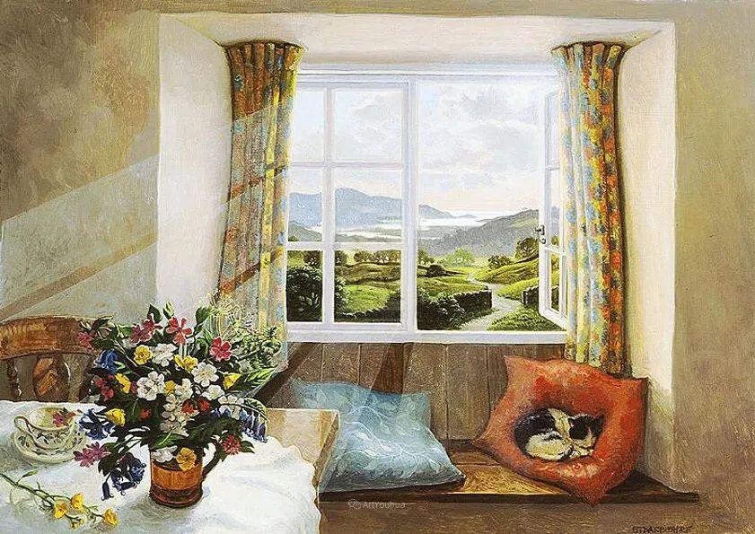 温馨的家,英国画家Stephen John Darbishire插图12