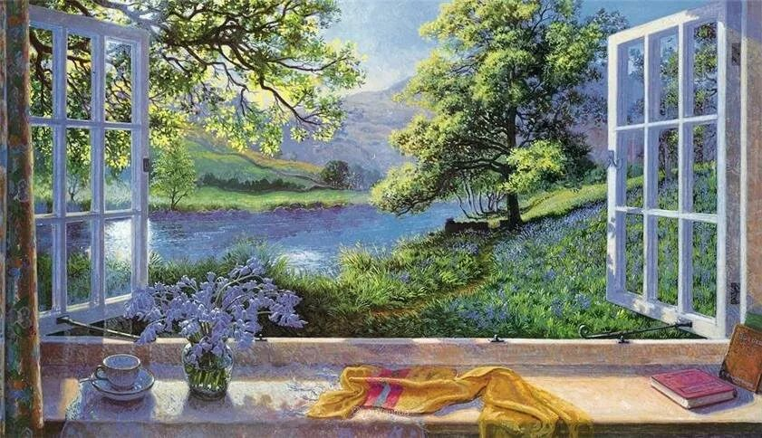 温馨的家,英国画家Stephen John Darbishire插图13