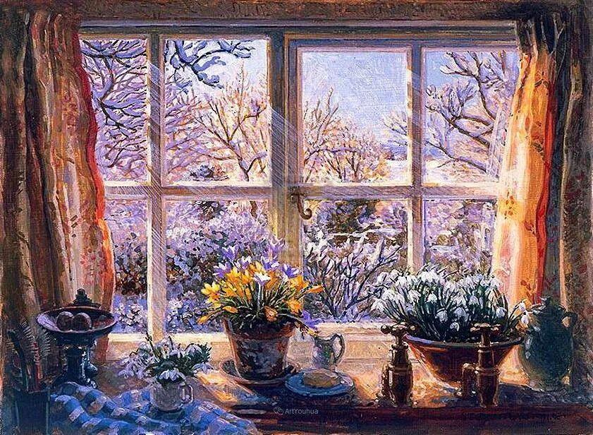 温馨的家,英国画家Stephen John Darbishire插图14