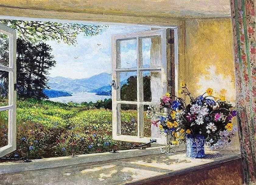 温馨的家,英国画家Stephen John Darbishire插图15