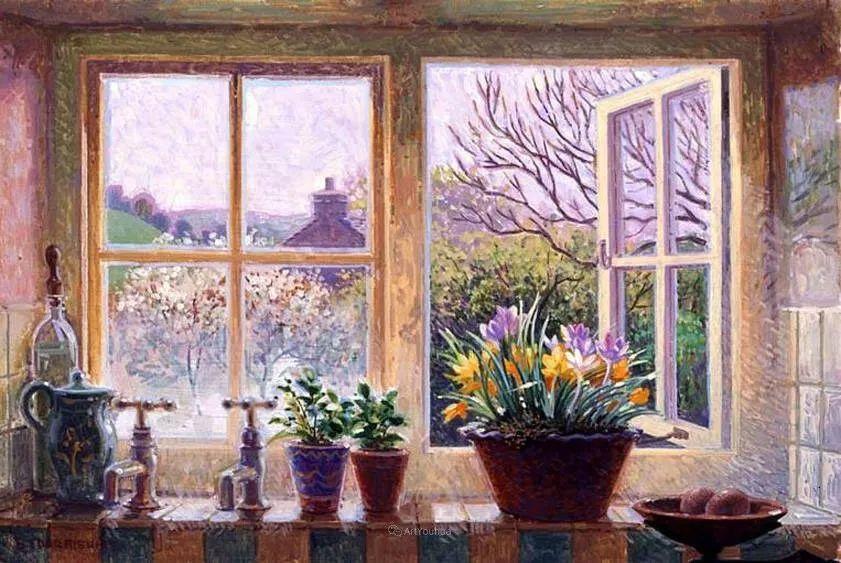 温馨的家,英国画家Stephen John Darbishire插图22