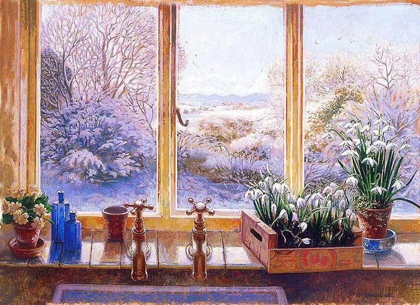 温馨的家,英国画家Stephen John Darbishire插图23