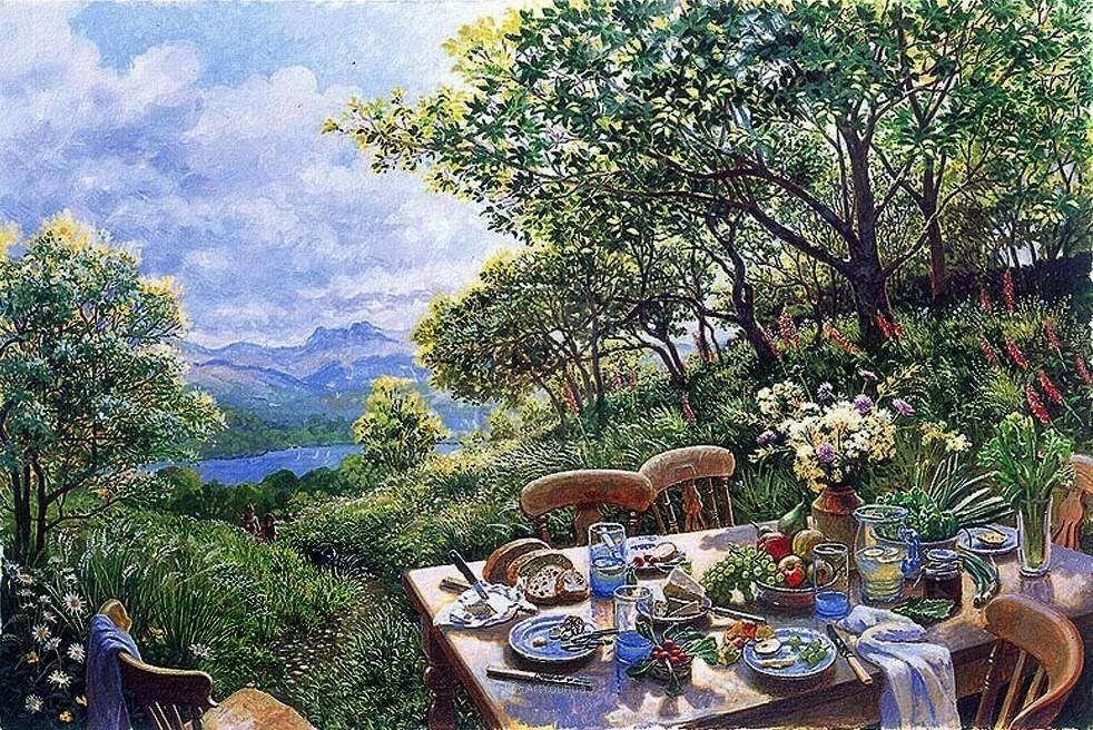 温馨的家,英国画家Stephen John Darbishire插图24