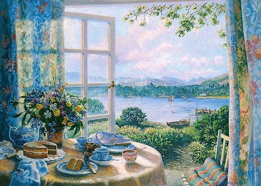 温馨的家,英国画家Stephen John Darbishire插图25