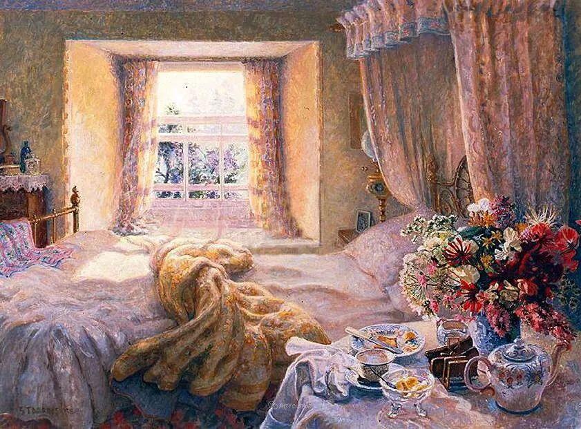 温馨的家,英国画家Stephen John Darbishire插图26