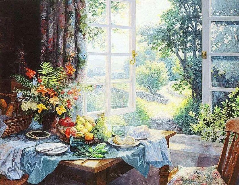 温馨的家,英国画家Stephen John Darbishire插图28