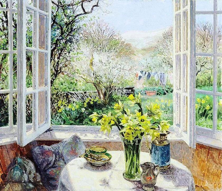 温馨的家,英国画家Stephen John Darbishire插图29