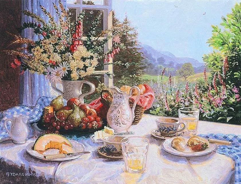 温馨的家,英国画家Stephen John Darbishire插图30