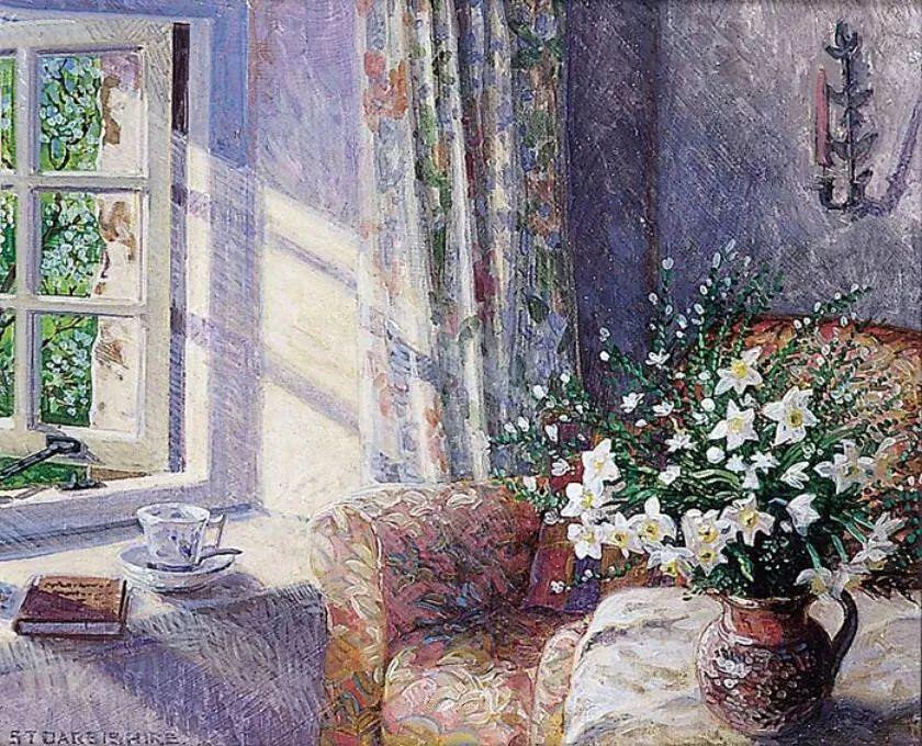 温馨的家,英国画家Stephen John Darbishire插图32