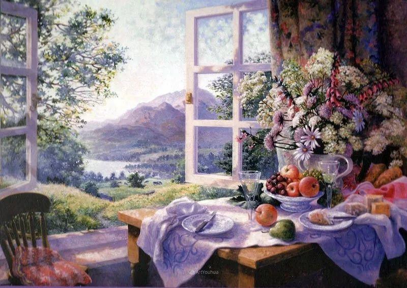 温馨的家,英国画家Stephen John Darbishire插图33