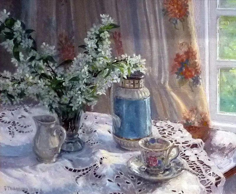 温馨的家,英国画家Stephen John Darbishire插图34