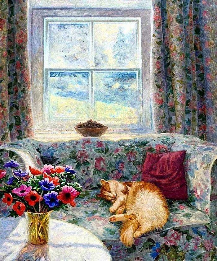 温馨的家,英国画家Stephen John Darbishire插图37
