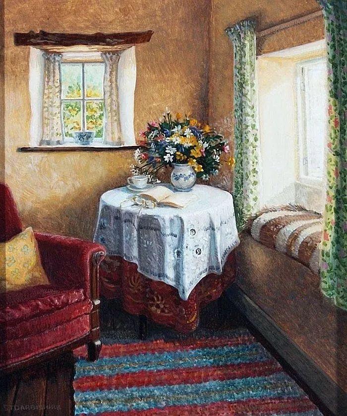 温馨的家,英国画家Stephen John Darbishire插图38