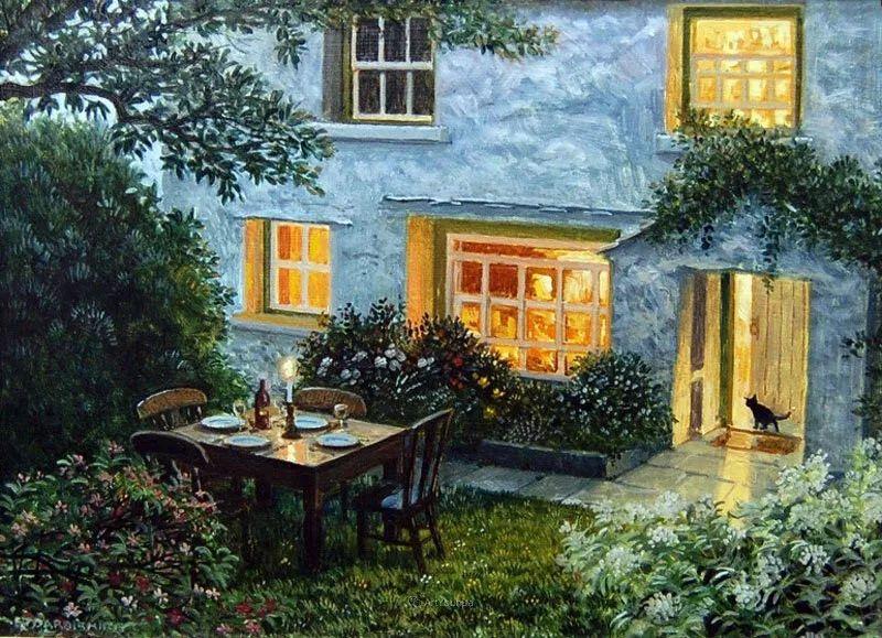 温馨的家,英国画家Stephen John Darbishire插图40