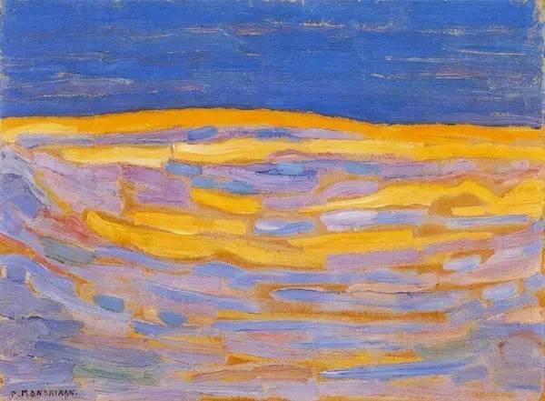 非具象绘画的构成风景,荷兰画家Piet Mondrian插图
