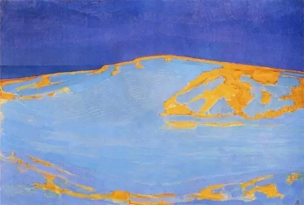 非具象绘画的构成风景,荷兰画家Piet Mondrian插图1