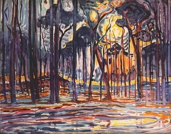 非具象绘画的构成风景,荷兰画家Piet Mondrian插图2