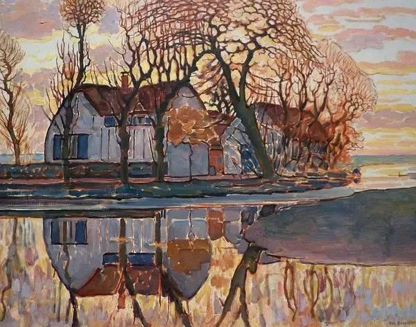 非具象绘画的构成风景,荷兰画家Piet Mondrian插图3