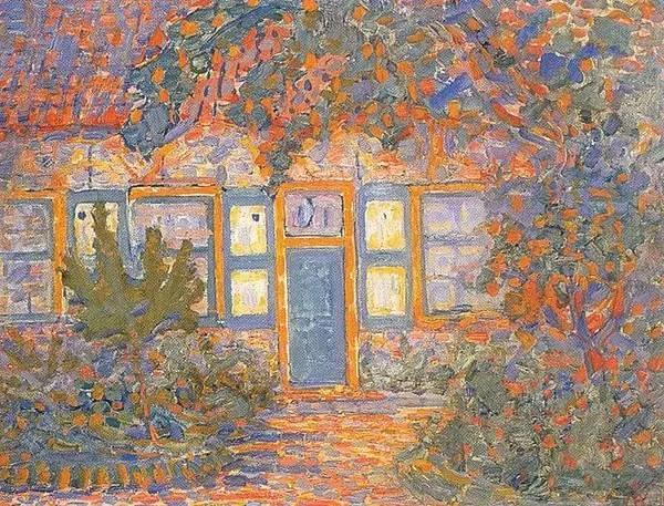 非具象绘画的构成风景,荷兰画家Piet Mondrian插图4