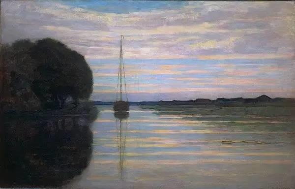非具象绘画的构成风景,荷兰画家Piet Mondrian插图5
