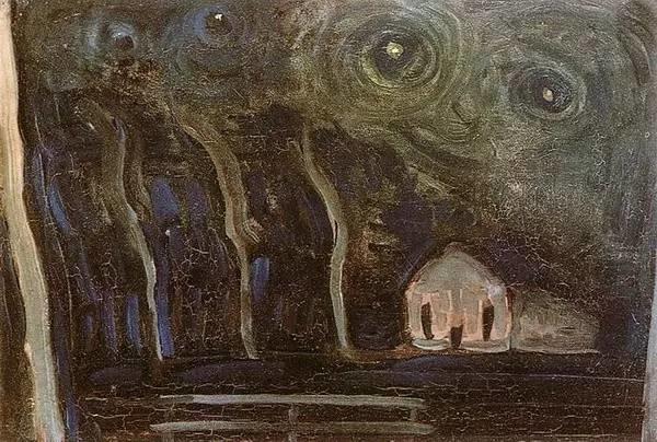 非具象绘画的构成风景,荷兰画家Piet Mondrian插图7