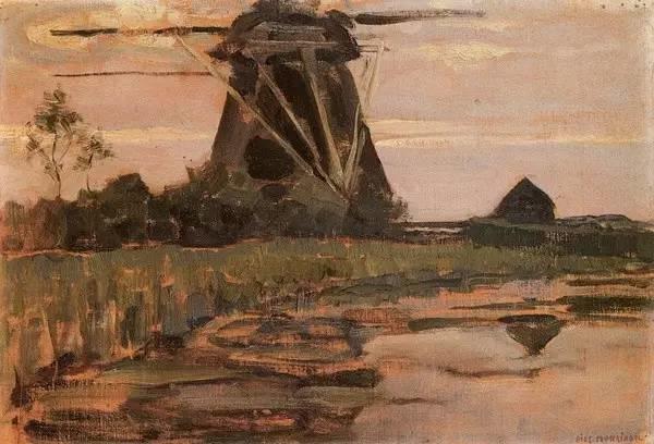 非具象绘画的构成风景,荷兰画家Piet Mondrian插图8
