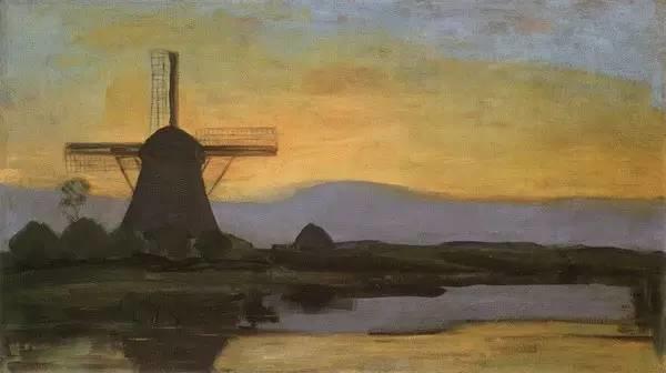 非具象绘画的构成风景,荷兰画家Piet Mondrian插图9