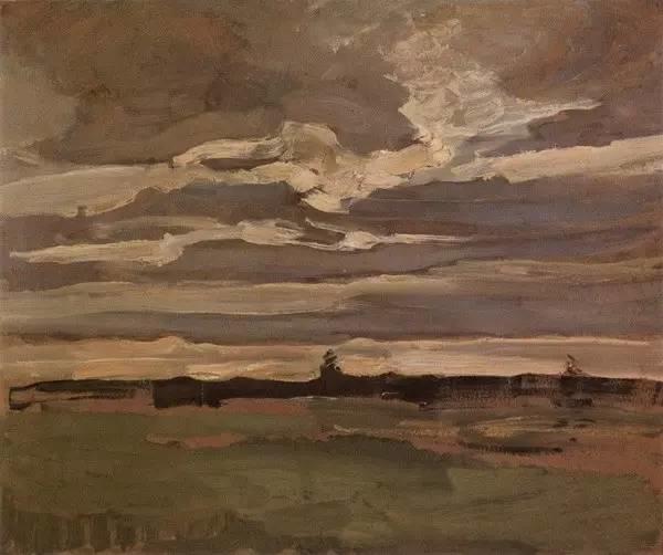 非具象绘画的构成风景,荷兰画家Piet Mondrian插图11