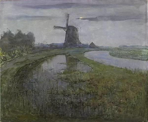 非具象绘画的构成风景,荷兰画家Piet Mondrian插图12