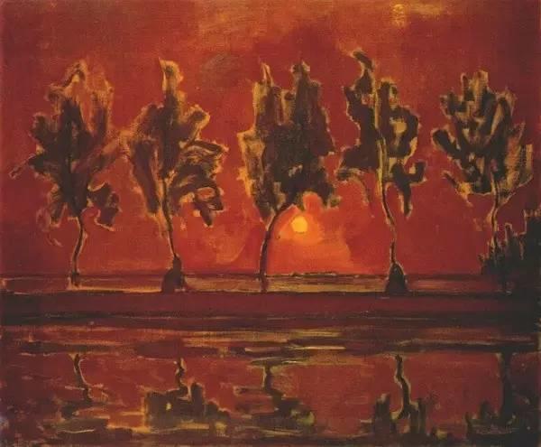 非具象绘画的构成风景,荷兰画家Piet Mondrian插图13