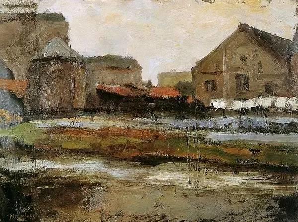 非具象绘画的构成风景,荷兰画家Piet Mondrian插图14