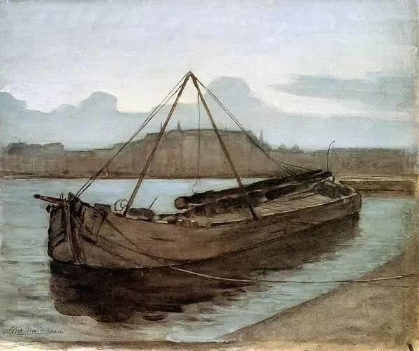 非具象绘画的构成风景,荷兰画家Piet Mondrian插图15