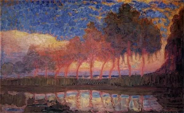 非具象绘画的构成风景,荷兰画家Piet Mondrian插图17