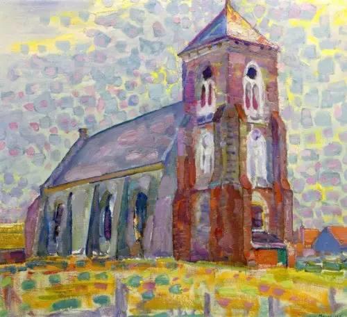非具象绘画的构成风景,荷兰画家Piet Mondrian插图20
