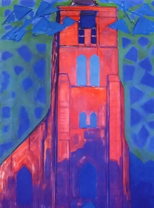 非具象绘画的构成风景,荷兰画家Piet Mondrian插图21