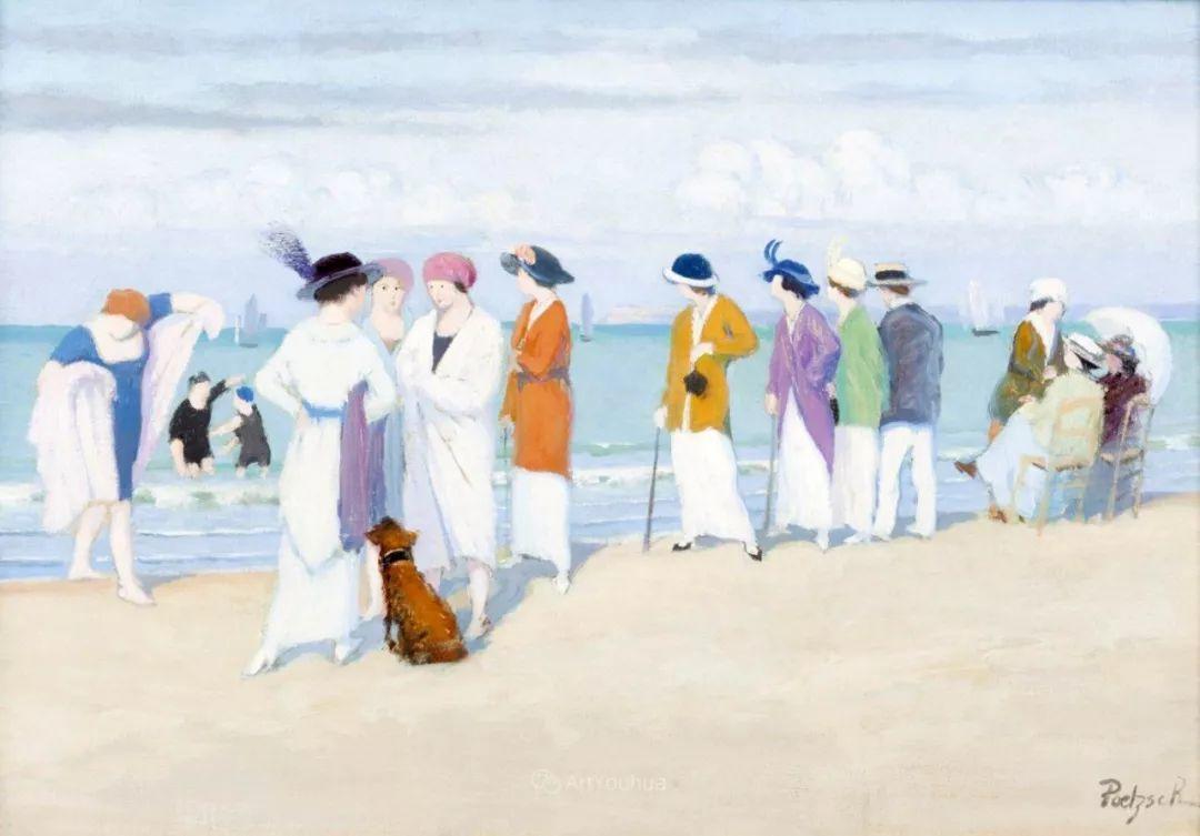 师从古斯塔夫·莫罗,瑞士画家Gustave Poetzsch插图9