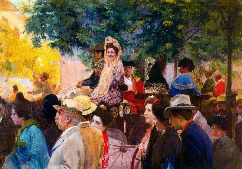 一起的快乐时光,西班牙画家Jose Mongrell y Torrent插图7