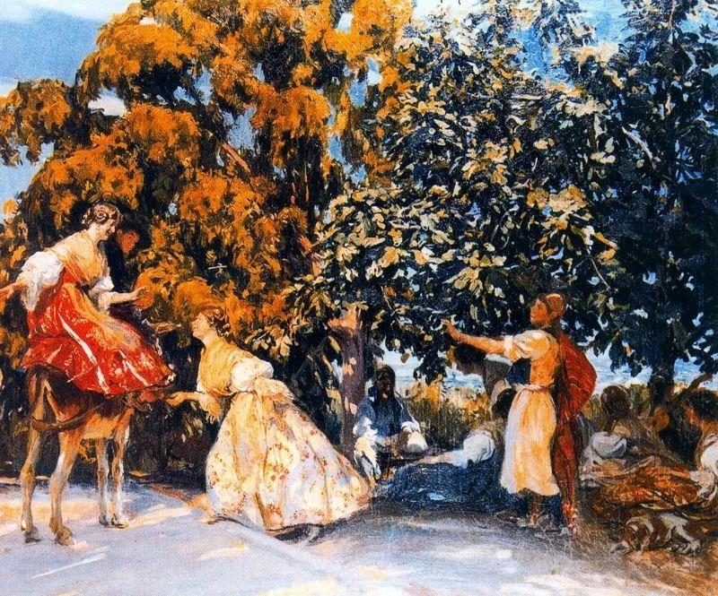 一起的快乐时光,西班牙画家Jose Mongrell y Torrent插图21