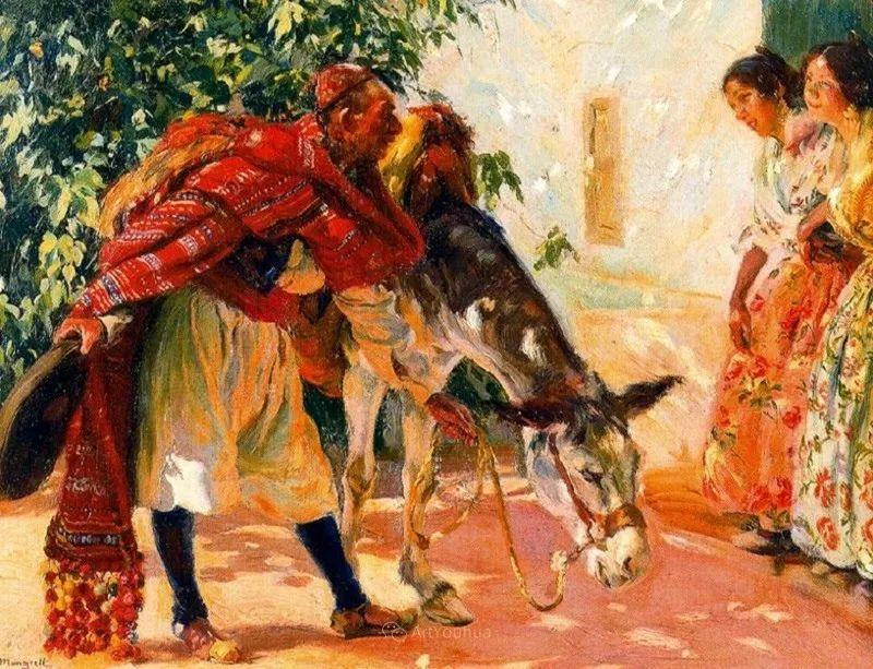 一起的快乐时光,西班牙画家Jose Mongrell y Torrent插图33