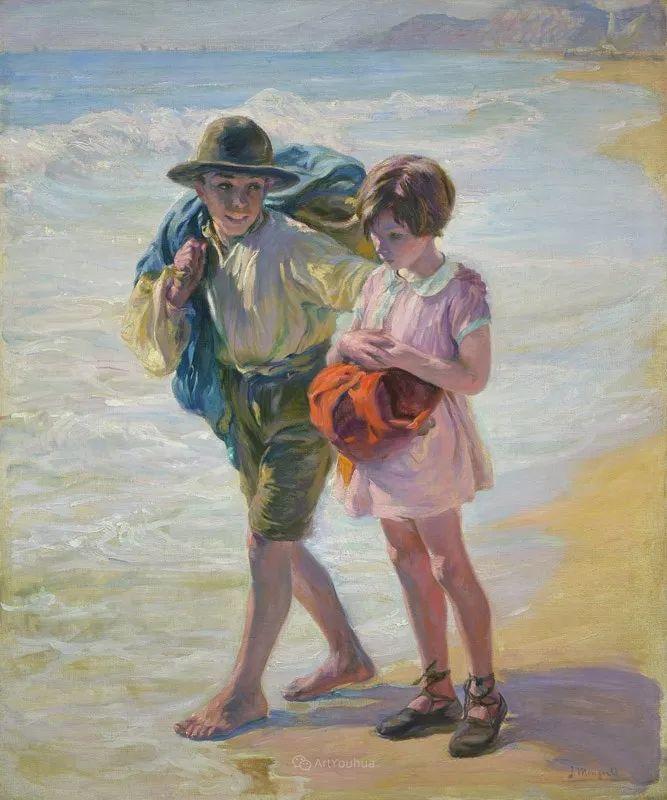 一起的快乐时光,西班牙画家Jose Mongrell y Torrent插图57