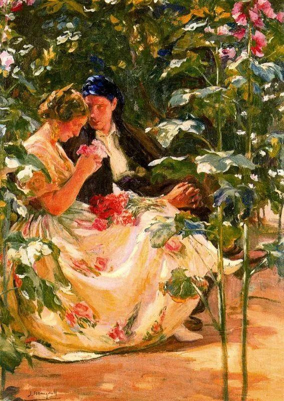 一起的快乐时光,西班牙画家Jose Mongrell y Torrent插图61