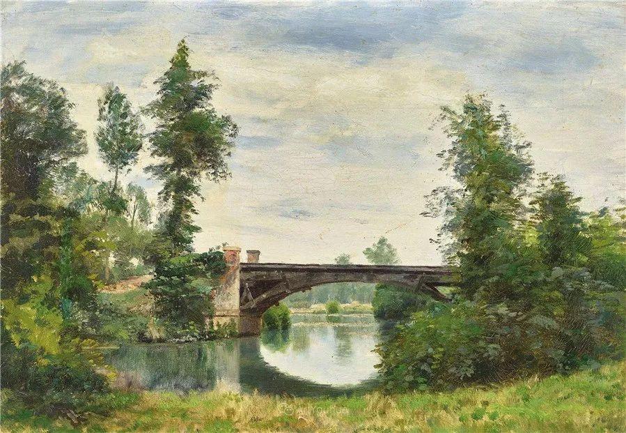 河边的风景,法国画家Edmond Charles Joseph Yon插图2