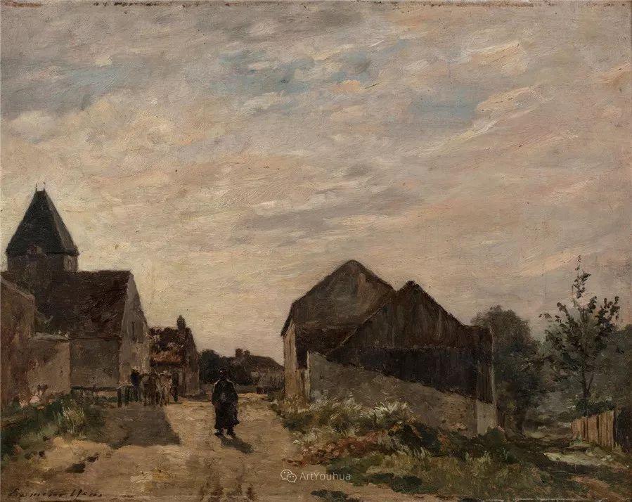河边的风景,法国画家Edmond Charles Joseph Yon插图4