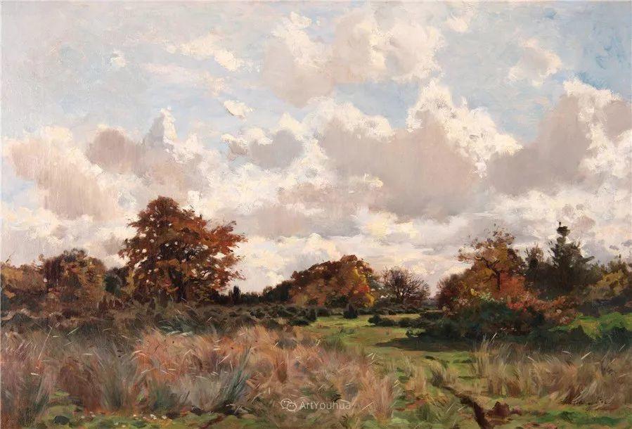 河边的风景,法国画家Edmond Charles Joseph Yon插图5