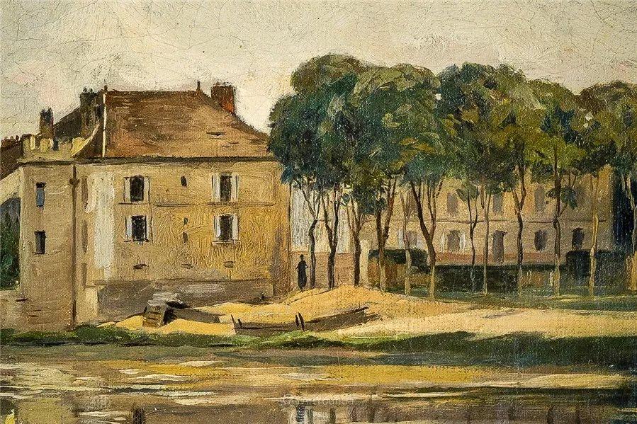 河边的风景,法国画家Edmond Charles Joseph Yon插图7